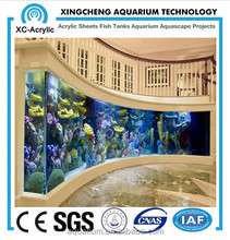 transparent and thick aquarium window by large acrylic panel