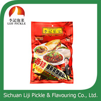 With FDA ISO spicy condiment for noodle and steamed bun, spicy sauce in aluminized bag