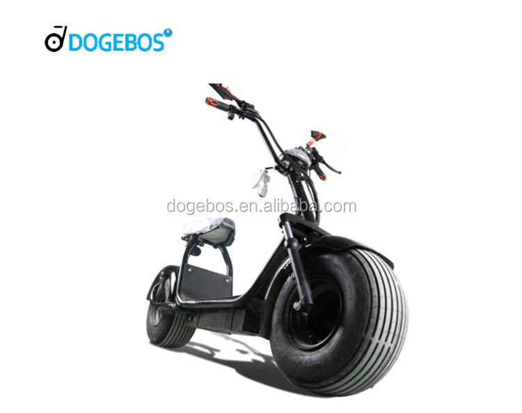 2018 Big Tire 2 Wheel citycoco electric motorcycle scooter with <strong>CE</strong> (black color)