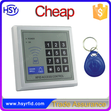 HSY-S200 China supplier 500 card or keychain tag user 125khz single door access control system with numeric keypad