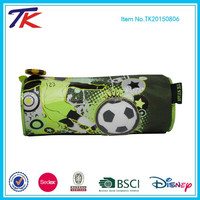 Zip Closure Football Rolling PVC Pencil Bag for School Boys Stationery