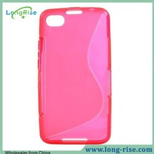 Simple and Plain S Shaped for Blackberry Z30 A10 Soft TPU Case (Rose)