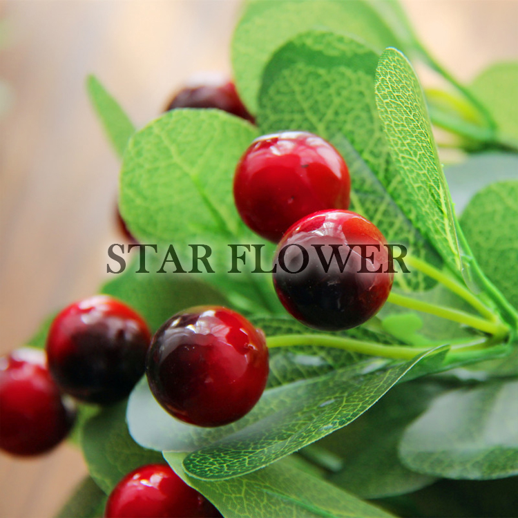 New Product SF2017059 wholesale artificial tree leaves factory direct artificial leaves with fruit