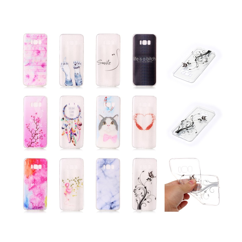 Flower Pattern TPU Case for Samsung S8, Mobile Phone Back Cover for Samsung S8
