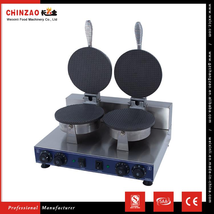 CHINZAO China Alibaba Online Selling Double Head Ice Cream Waffle Cone Maker