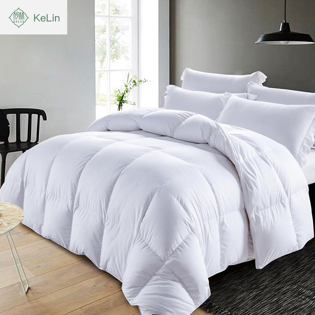 luxury home 100% soft cotton microfiber filling patchwork down proof fabric duvet feather down quilts comforter