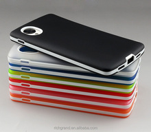 2 in 1 Soft Translucent TPU back + Plastic Bumper Case for LG Google Nexus 5
