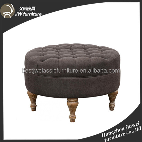 Wholesale storage foldable chair ottoman stool chair round ottoman recliner chair footstool for sale