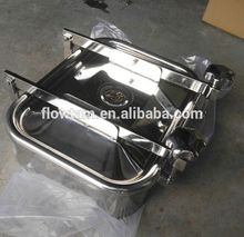 size 530*430 stainless steel square tank manhole cover