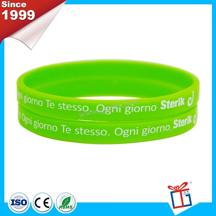 Factory cost easy to use Thin-Silicone Bracelet