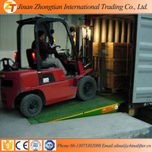 Portable hydraulic loading dock leveller used for truck container