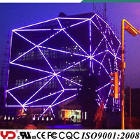 Amazing building facade illumination for advertising