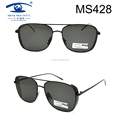 Hot Sale Double Bridge Classic Style Metal Sunglasses (MS428)