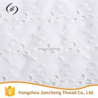 Wholesale products cotton and polyester fashion embroidered fabric