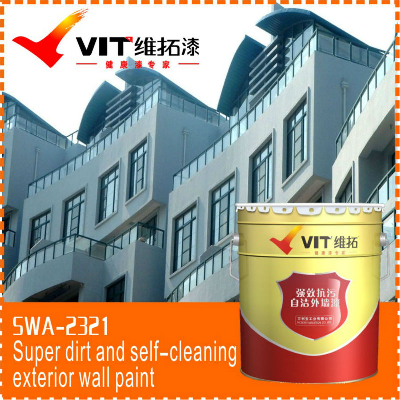 Self-cleaning harmless and washable exterior wall paint