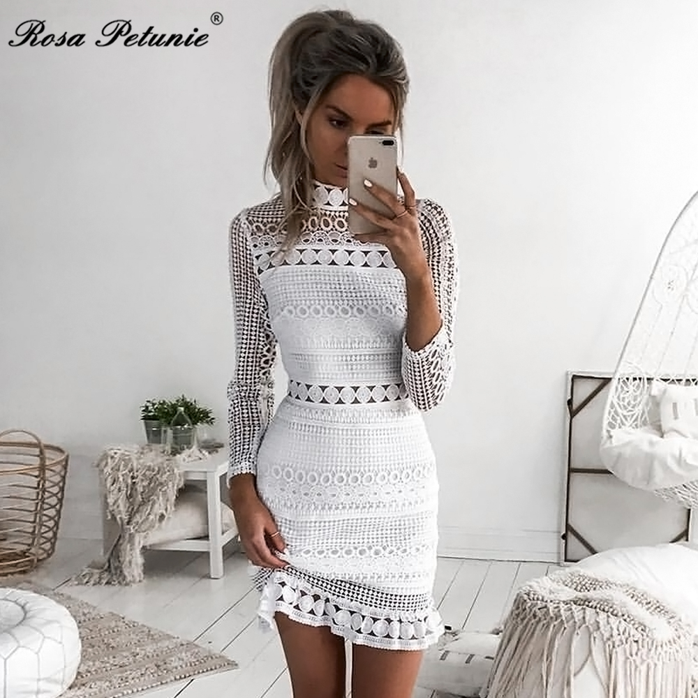 HTB1AskWfSYH8KJjSspdq6ARgVXao - Winter 2018 New Sexy White Lace Dress Women's High Quality long Sleeve Embroidery Cutout Elegant Dress Hollow Out Vestidos