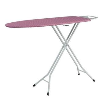 SA-8 Superb with 100% cotton cover and white oval iron metal frame ironing board