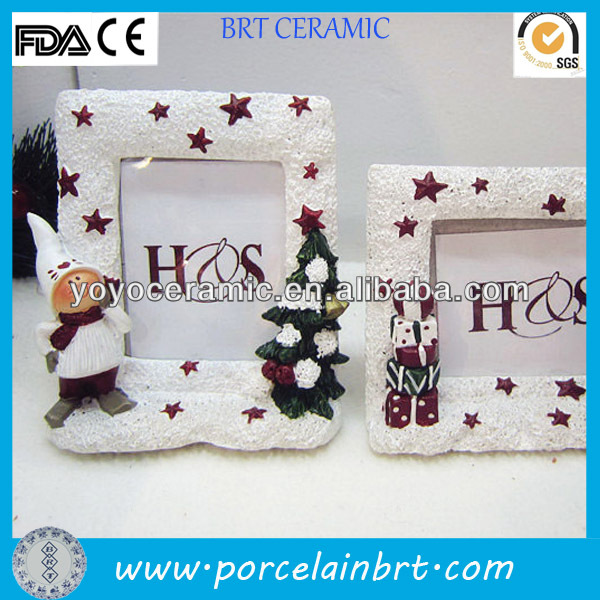 white rectangle resin picture frame christmas ornaments