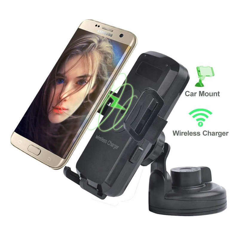 Wireless Car Charger, Car Mount Charger by Veister,Air Vent Mount and Dashboard Cup Holder, for iPhone 8/X