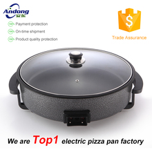 1500W Round Electric Skillet electric pizza pan CE for Europe