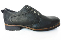 Black genuine leather upper italian men leather dress shoes