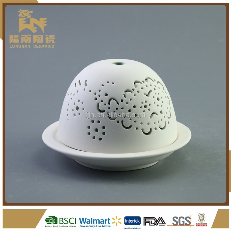 Handmade ceramic easter decoration egg shaped led light