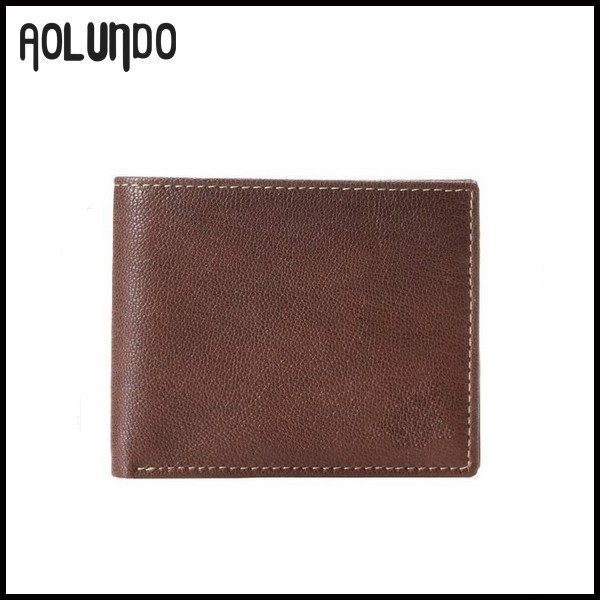 Top Grain Real Leather Custom Men Wallet Brand