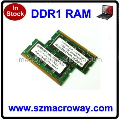 ddr memory ram laptop dimm ddr 1gb 333 mhz pc2700 sodimm