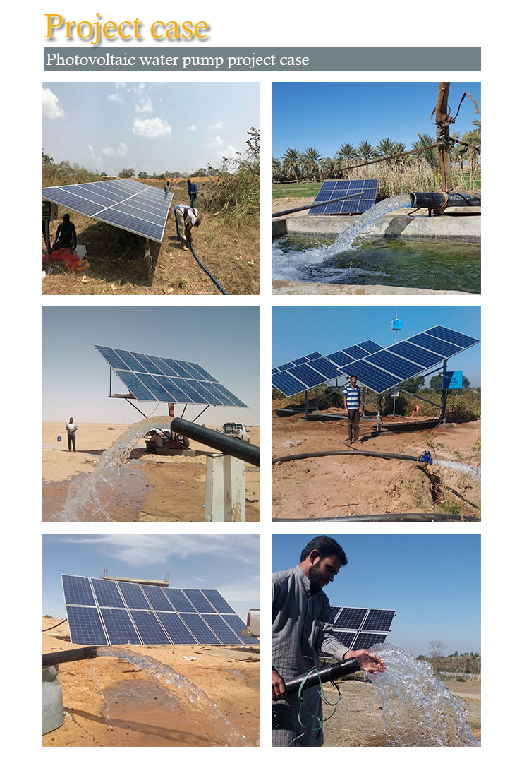 50HP High Head Solar Powered Water Pump Systems & Solar Panels For Irrigation