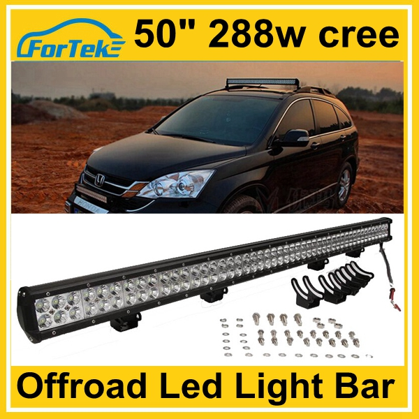 offroad accessories 50 inch <strong>cree</strong> 288W 4x4 LED light bars 12v 24v from China factory