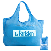 customized Polyester Nylon Foldable tote Bags with Pocket