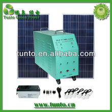 off grid hybrid solar wind power system for home Lighting +270W panel+150Ah battery