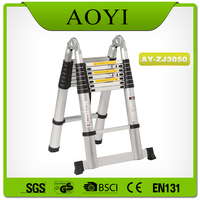 New safety lock folding frp ladder with jiont