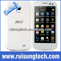 "MIZ Z1 Quad core 512MB ram 4.5"" 960*540 Android 4.1 dual core 12 MP camera MTK6589 3G mobile phone"