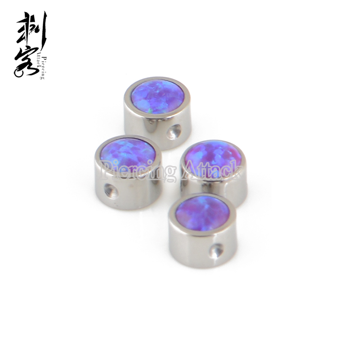 ASTM F136 Titanium Opal Discs for Ball Closure Rings Piercing Jewelry Accessory