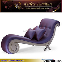 Luxury antique chaise lounge is used silver leg, and high density sponge for the living room furniture