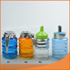 9.5oz glass cruet/ glass sauce bottle with different lid