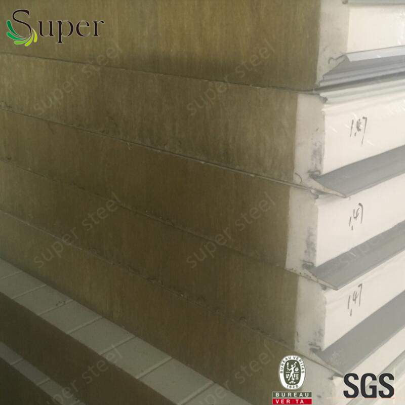 High Quality Insulated Color Steel Polyurethane PU Sealing Rockwool Sandwich Panels Roof Sandwich Panel