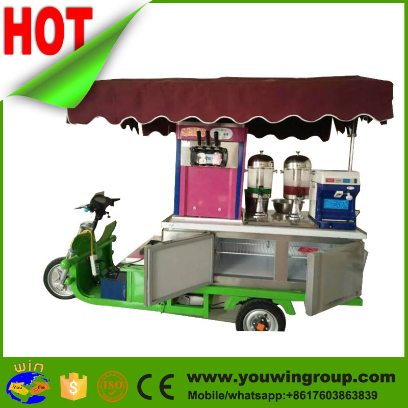 mobile slush orange juice vending machine, food truck ice cream van for sale