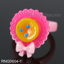 High Quality Plastic Kids Rings Cheap Finger Rings