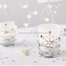 Jeweled Snowflake Votive Holders Glass Tealight Candle Holder Wedding Favors Chiristmas Decoration
