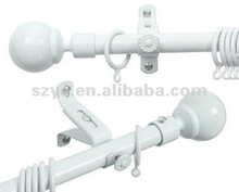 28mm white Round Ball curtain rod bracket plastic