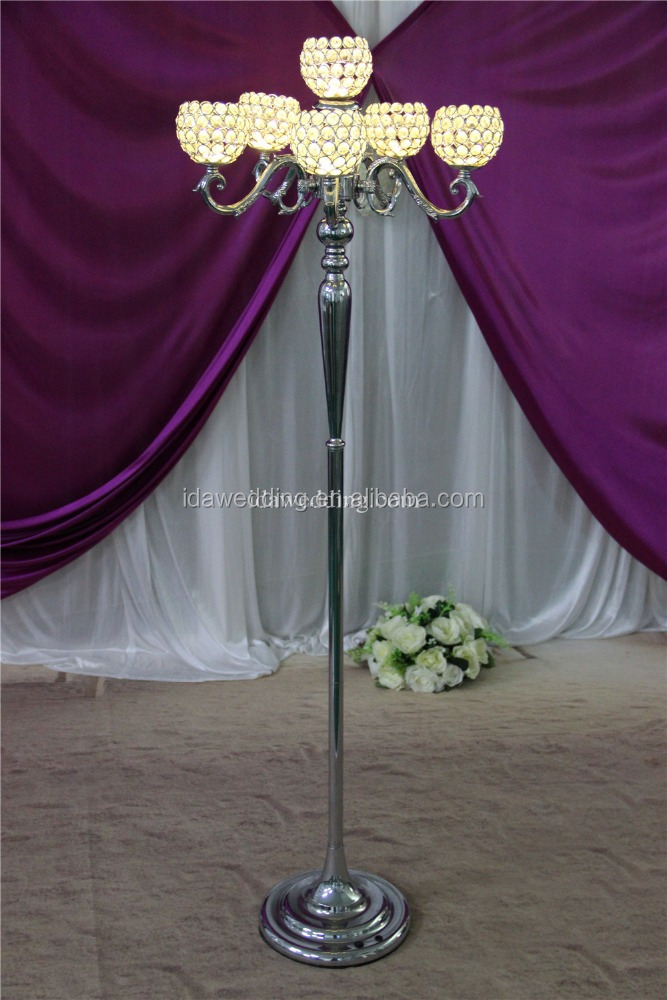 crystal bead centerpiece/acrylic columns with crystal led/wedding aisle decorations crystal pillars