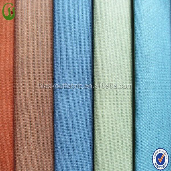 Fashionable Polyester Cotton Mixed Blackout Fire Retardant Drapery Fabric
