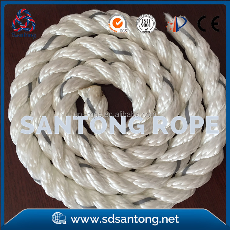3 Strand twisted mooring lines for Spinnaker sheets