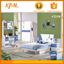 Boys and girls kids bedroom furniture/blue and white bunk bed kids bedroom furniture