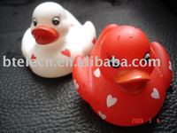 flashing led colorful float duck animal for children pool toy Novelty Decoration Night Light