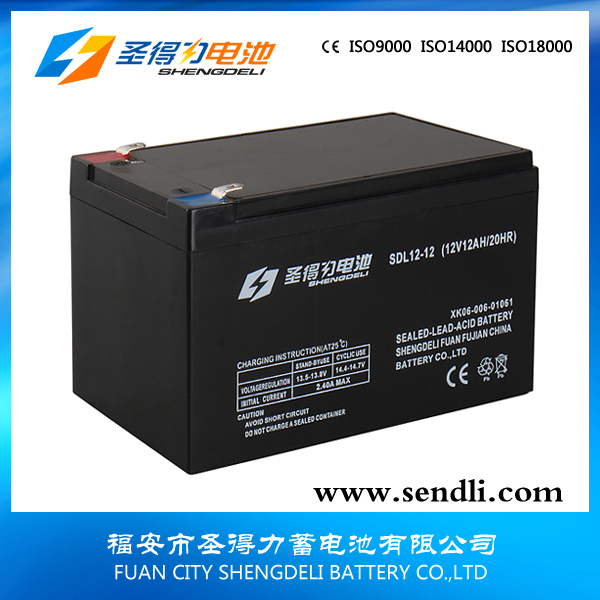 Rechargeable lead acid gel battery for storage solar 12V12AH