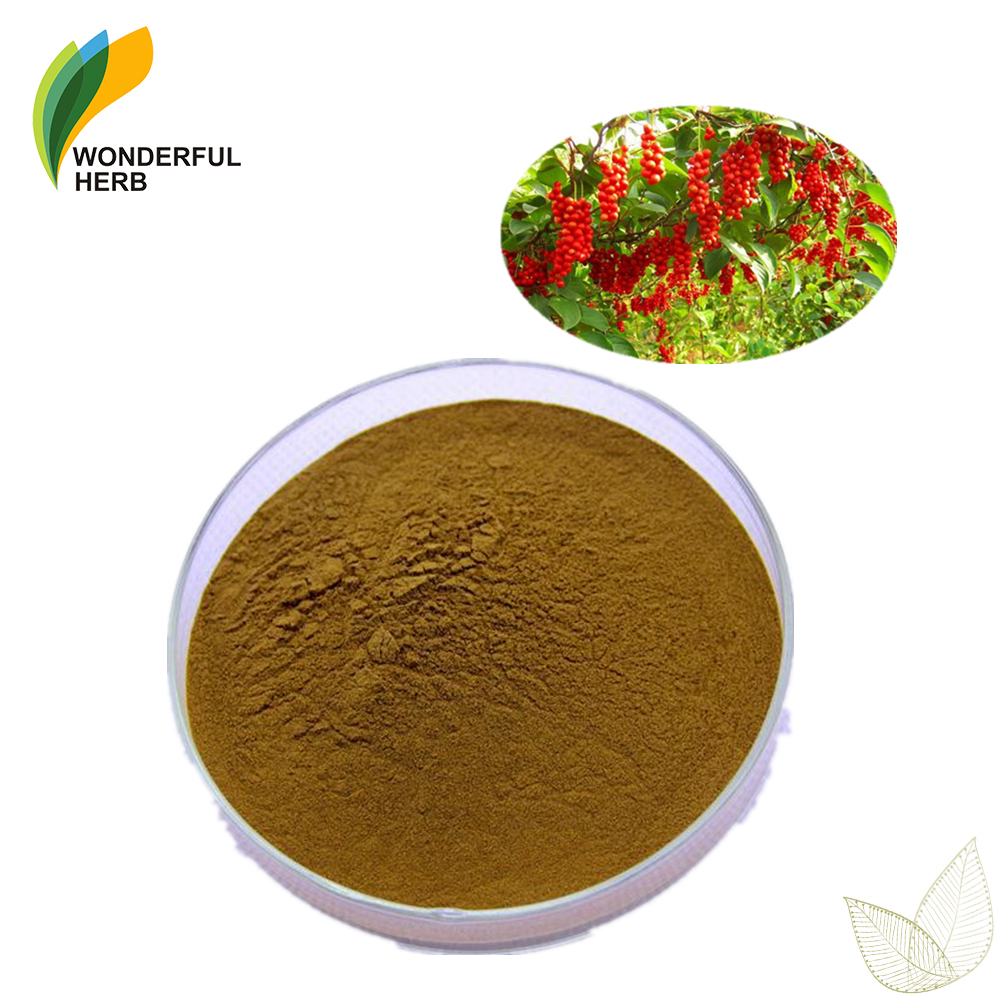 Wuweizi Berry Fruit Extract schisandrin Organic Schisandra chinensis Powder