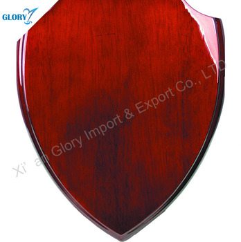 Wholesale High Quality Blank Wooden Shield Plaques